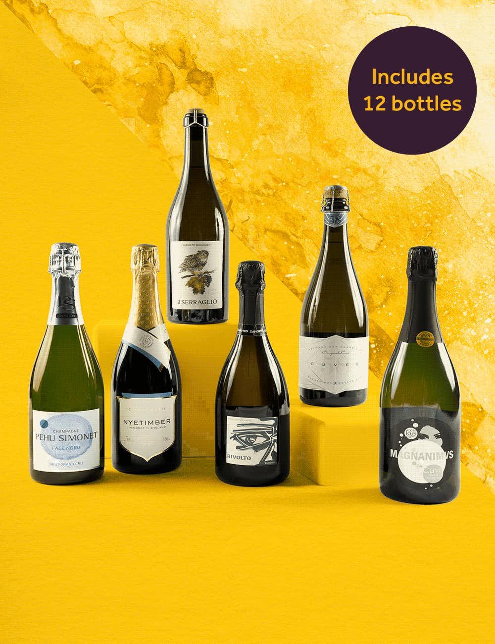 Wine& brilliant bubbles