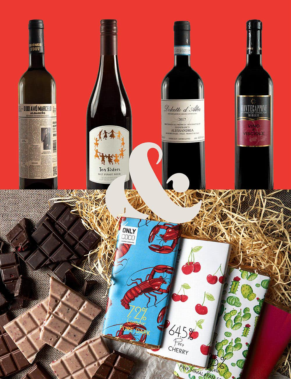 Wine& chocolate indulgence