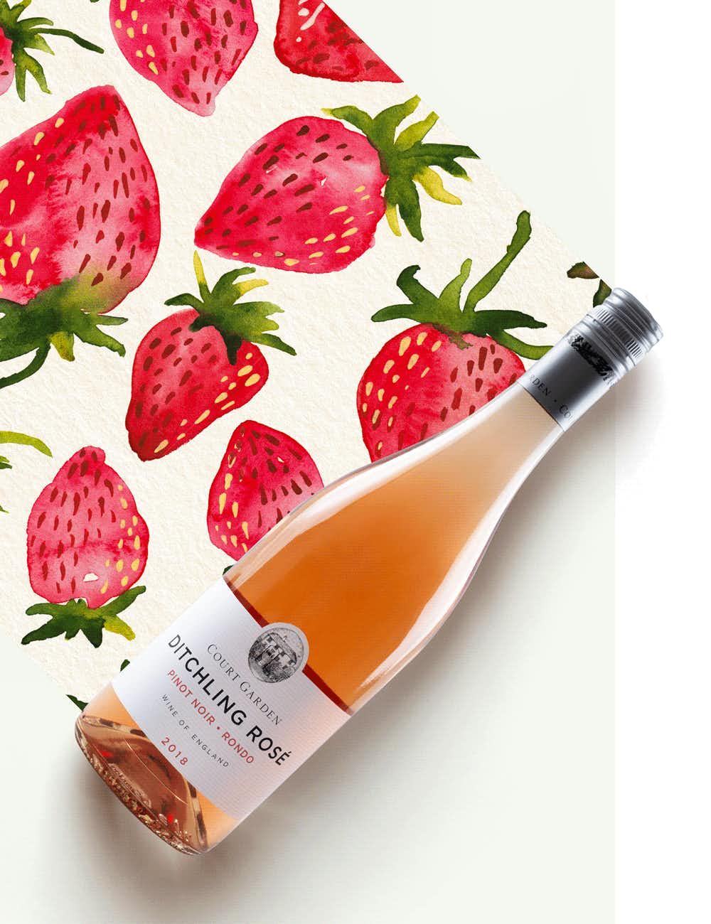 Court Garden VineyardDitchling Rosé 2018
